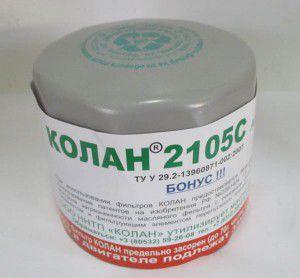фільтр оливи колан 2105с-2108с, 157510598, ваз