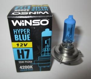 а-лампа галог голуб winso, 12v-55w h7, 190501055