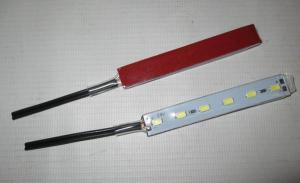 авто лампа світлодіод лента 8см біла, 190501527