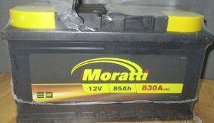 акб 6ст-85 заряж. moratti tab, 54000227