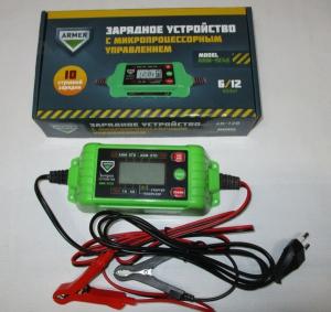 заряд пристрій 4,2 аmp 6-12v мікропроцесор 10-ступенів зарядки з тестером, 61048025
