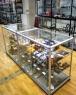 Витрина стеклянная с алюминиевым профилем (высота 100 см)